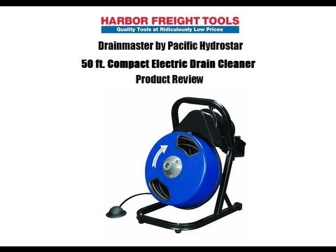 Harbor Freight Product Review:  50 ft - 1/2 inch Compact Electric Drain Cleaner