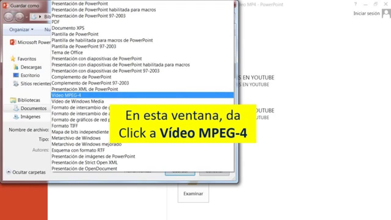 como convertir una presentacion de power point en video