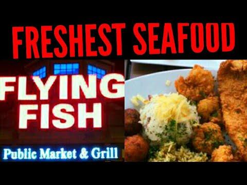 FRESHEST SEAFOOD In N. Myrtle Beach! Flying Fish Public Market BAREFOOT LANDING
