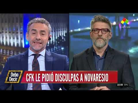 Cristina se disculpó con Novaresio por haberlo criticado