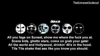 Repeat youtube video Hollywood Undead - Scene For Dummies [Lyrics Video]