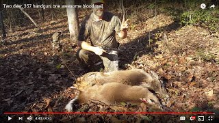 Two deer, 357 pistol, one awesome blood trail