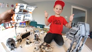 FATHER SON ULTIMATE LEGO BATTLE! / Star Wars Hoth!