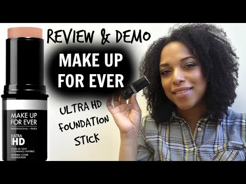 REVIEW + DEMO | NEW Makeup Forever Ultra HD Foundation Stick | NaturallyCurlyQ