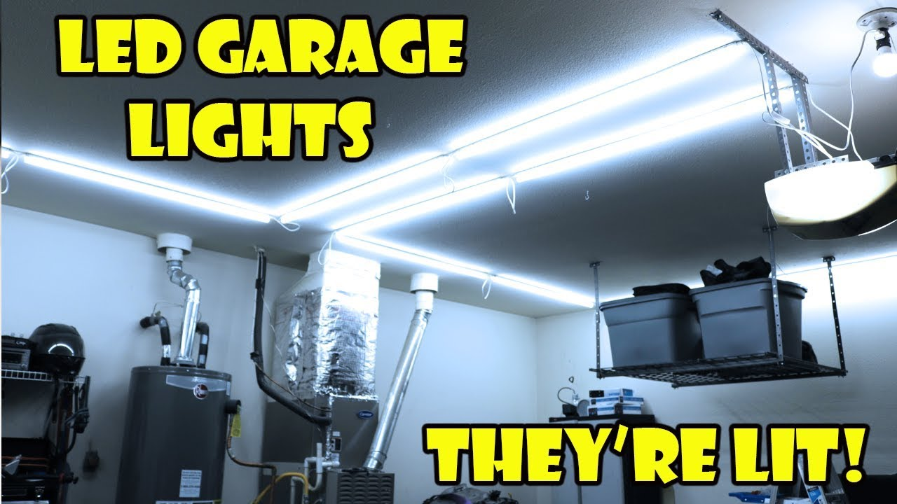 Best Garage Lighting Amazon Barrina Led Shop Light Review Install