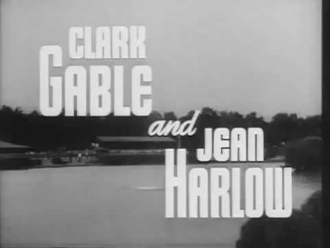 Jean Harlow,   Last Film , Saratoga  1937   trailer