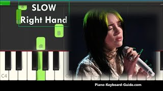 Billie Eilish No Time To Die Right Hand Slow and Easy Piano Tutorial
