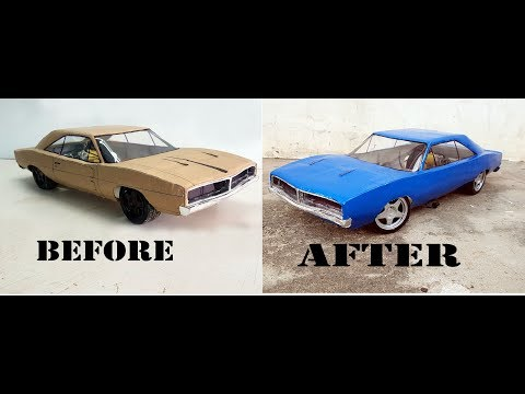 RC Dodge Charger 1969 || How to make old Dodge car with cardboard || DIY || Electric toy car