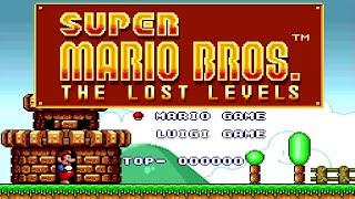 Super Mario Bros: The Lost Levels - Full Game Walkthrough
