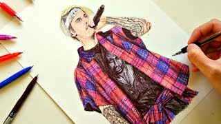 JUSTIN BIEBER DRAWING with ballpoint pen
