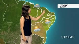 Previsão Nordeste – Tempo instável na costa norte