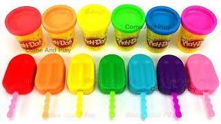 Apprendre les couleurs avec des glaces colorées Play Doh pâte à modeler