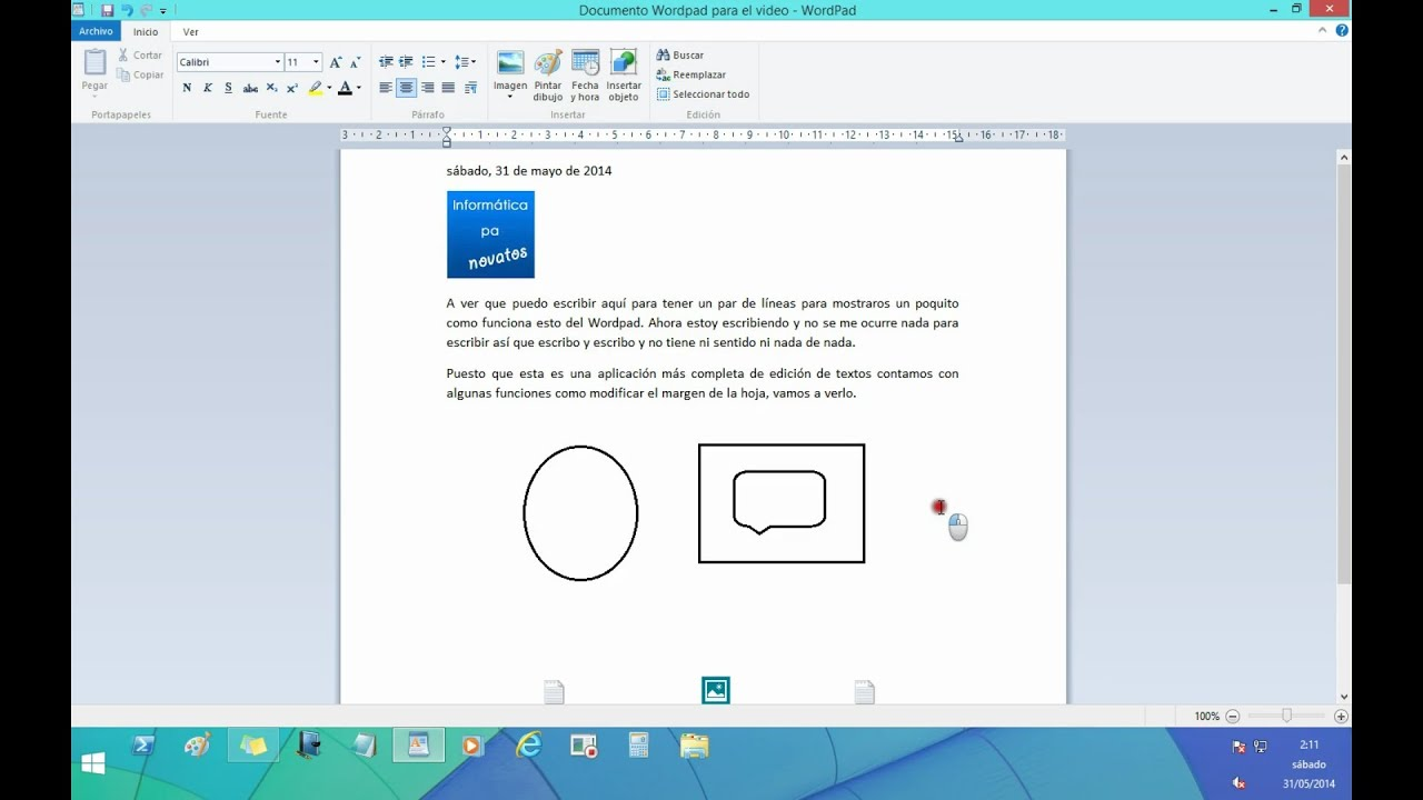 how to use wordpad in windows 8