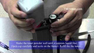 How to refill reset Brother TN-630, TN-660 Toner cartridge
