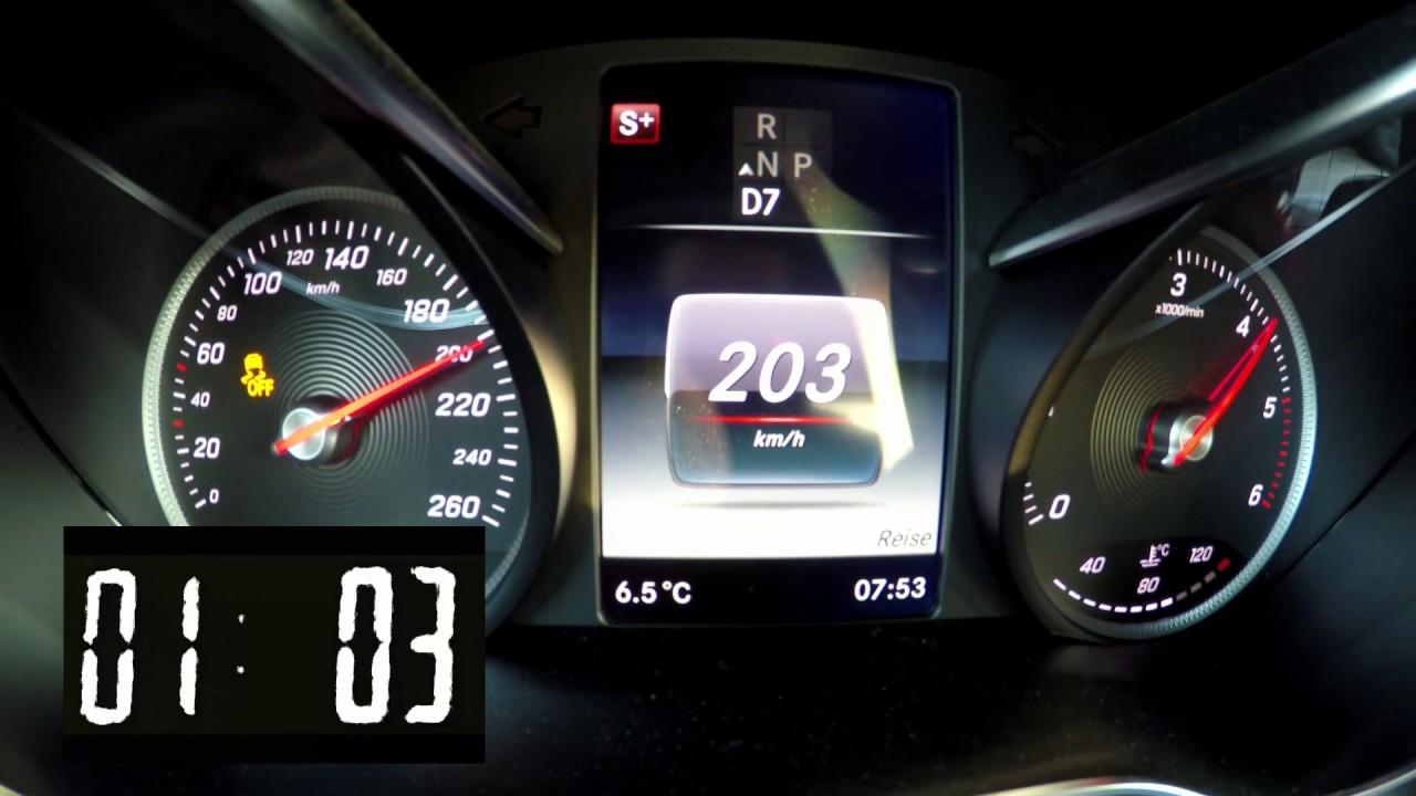 Mercedes GLC220d 4matic 0-100 0-160 0-200 X253