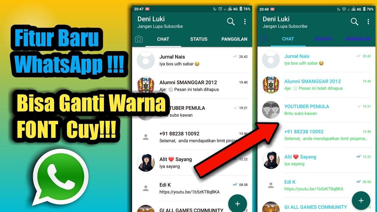 Cara Merubah Warna Font Chat Whatsapp Tanpa Aplikasi Tambahan Youtube