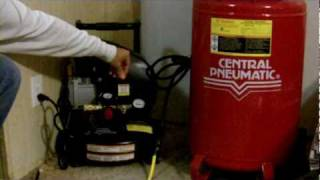 Noise Level of a home use air compressor Harbor Freight vs Campbell Hausfeld