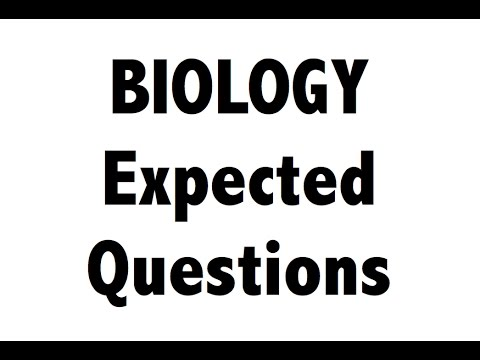 Expected Biology / science MCQ questions for SSC CGL