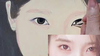 눈동자 그리는법(팝아트초상화)