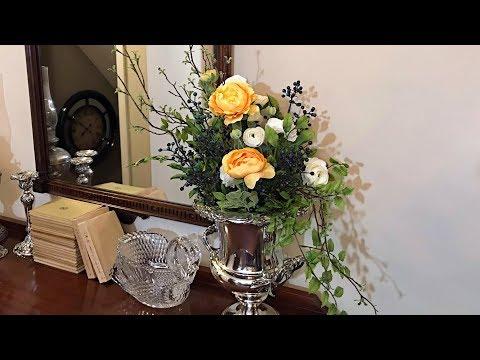 Spring / Easter Floral Arrangement - Elegant Spring Decorating