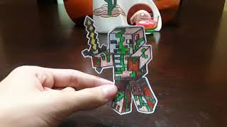 My Drawings of Minecraft and Puppet Steve Paper Cutouts