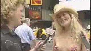 naked cowgirl - times square ny