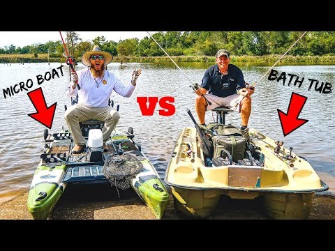 Micro Boat Vs Bath Tub Fishing CHALLENGE (1v1 Tournament)