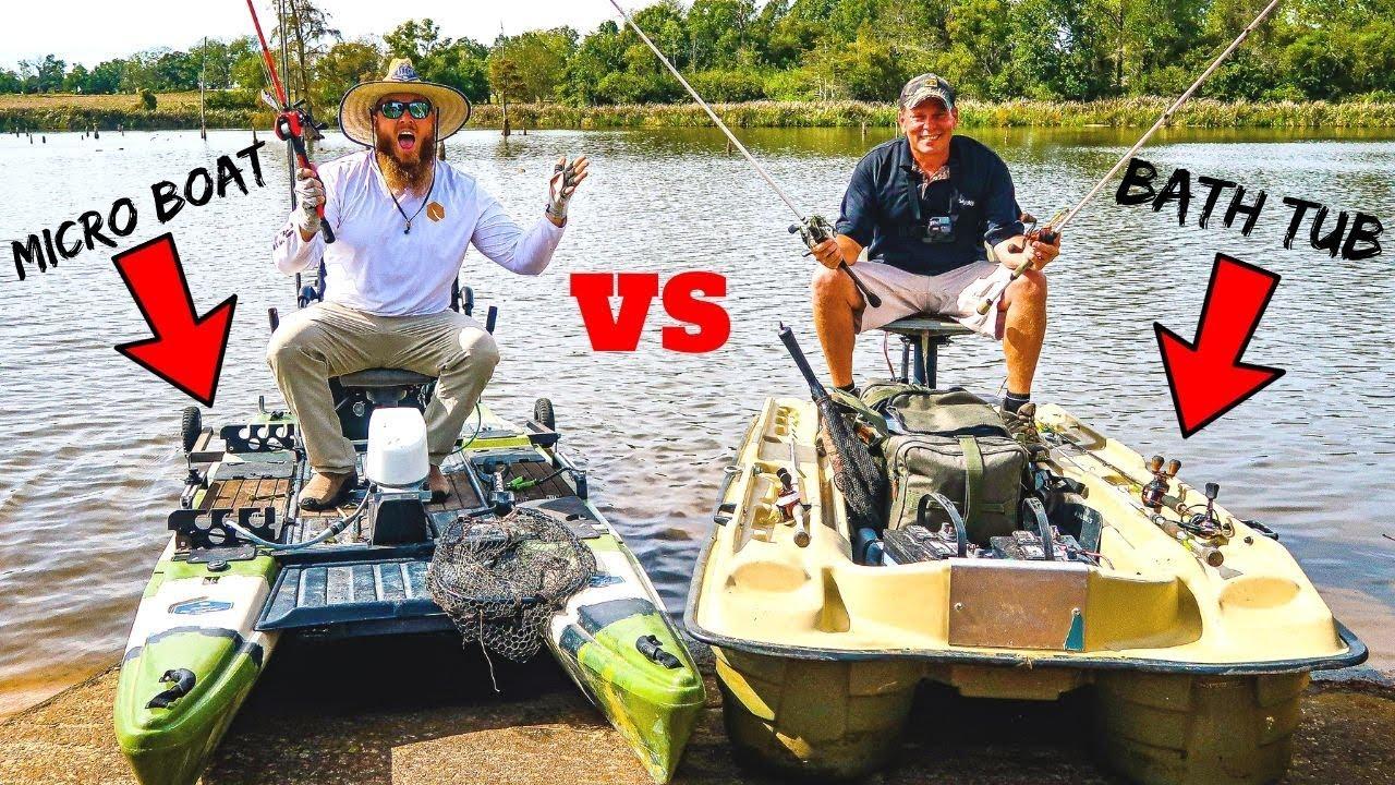 Micro Boat Vs Bath Tub Fishing Challenge 1v1 Tournament Youtube