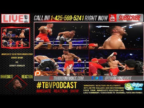 Immediate Reaction: Andre Ward Stops Sergey Kovalev, Wants Anthony Joshua?