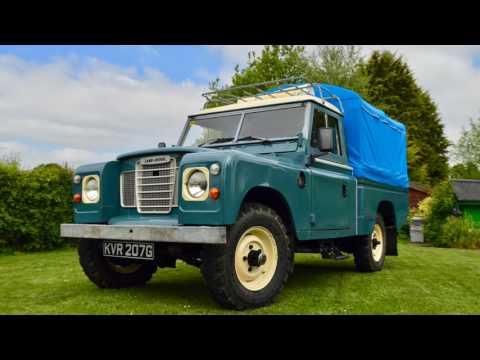 British classic Land Rover series 3 109 campervan
