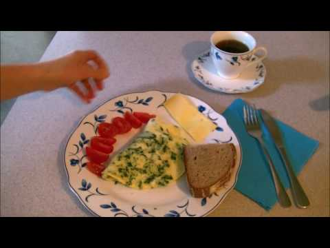 омлет рецепт  /меню 1200 ккал/230Ккал  Низкокалорийный омлет с шпинатом