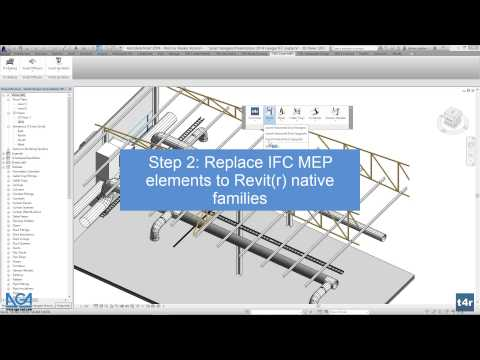 Replace IFC elements with native Revit® families