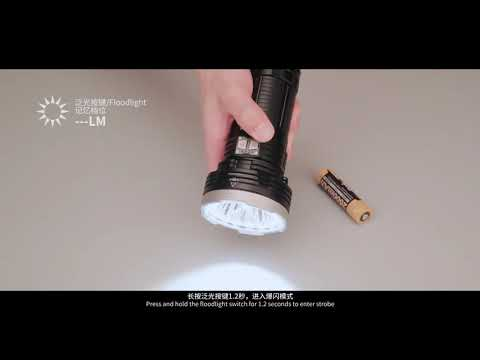 Senter Fenix LR40R Flashlight LED Rechargeable