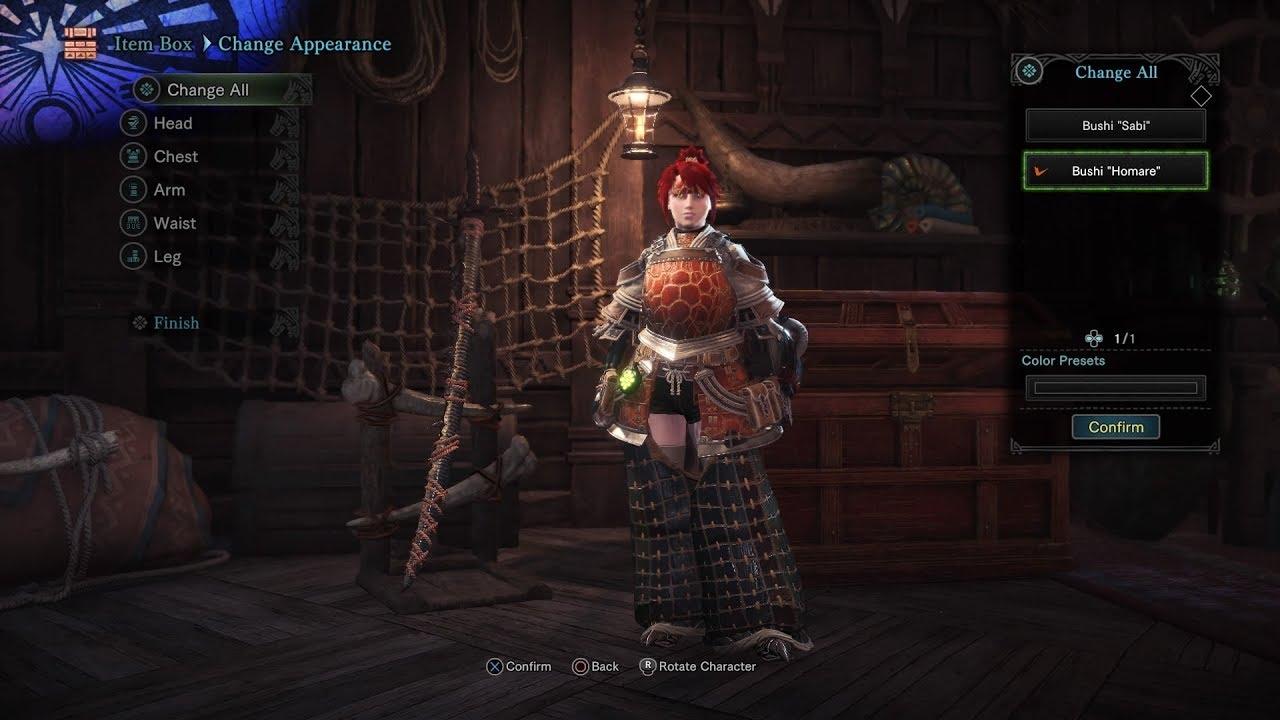 [MHW] Free Layered Lao-Shan Lung Armor + Samurai Palico Armor