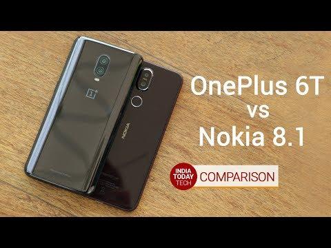 OnePlus 6T vs Nokia 8.1