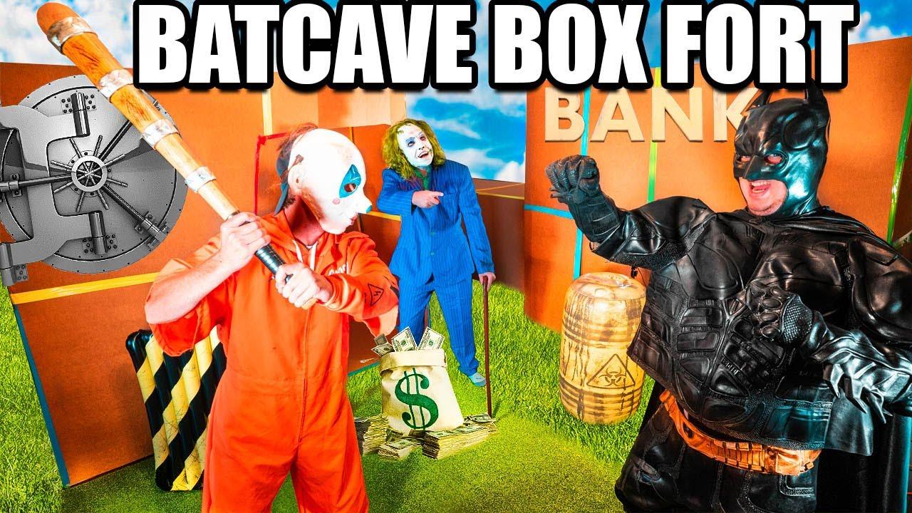 BILLIONAIRE BATMAN BOX FORT VS THE JOKER! STOP THE BANK ROBBER!