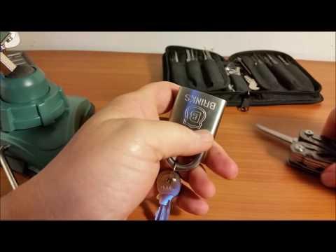 (058) Brinks Stainless Steel 5 pin padlock JUNK!!!