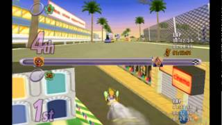Action Girlz Racing PS2 Multiplayer Gameplay (M3/Metro 3d) 50cc All Courses - Playstation