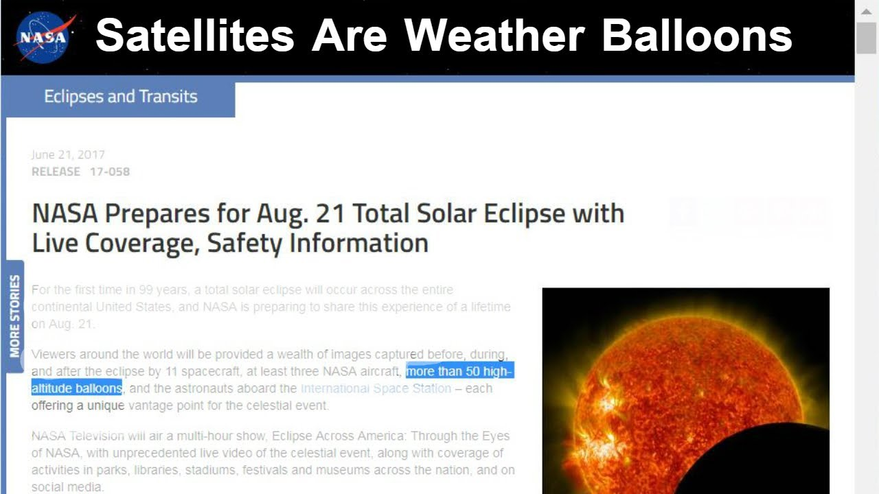 August Weather Nasa Eclipse hoax 21st Balloons To 2017 - Satellites Youtube 50 Solar Monitor