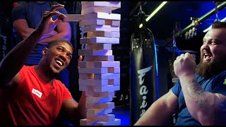 Anthony Joshua vs Eddie Hall - World's Most EPIC Game of… JENGA! (The Unseen Footage)