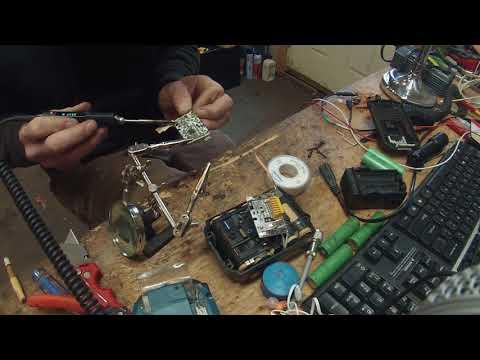 Makita (clone)lxt lithium battery repair-FAIL