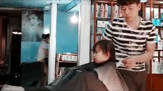Dụ bé cắt tóc Bống bống bang bang_ bé Bào Ngư