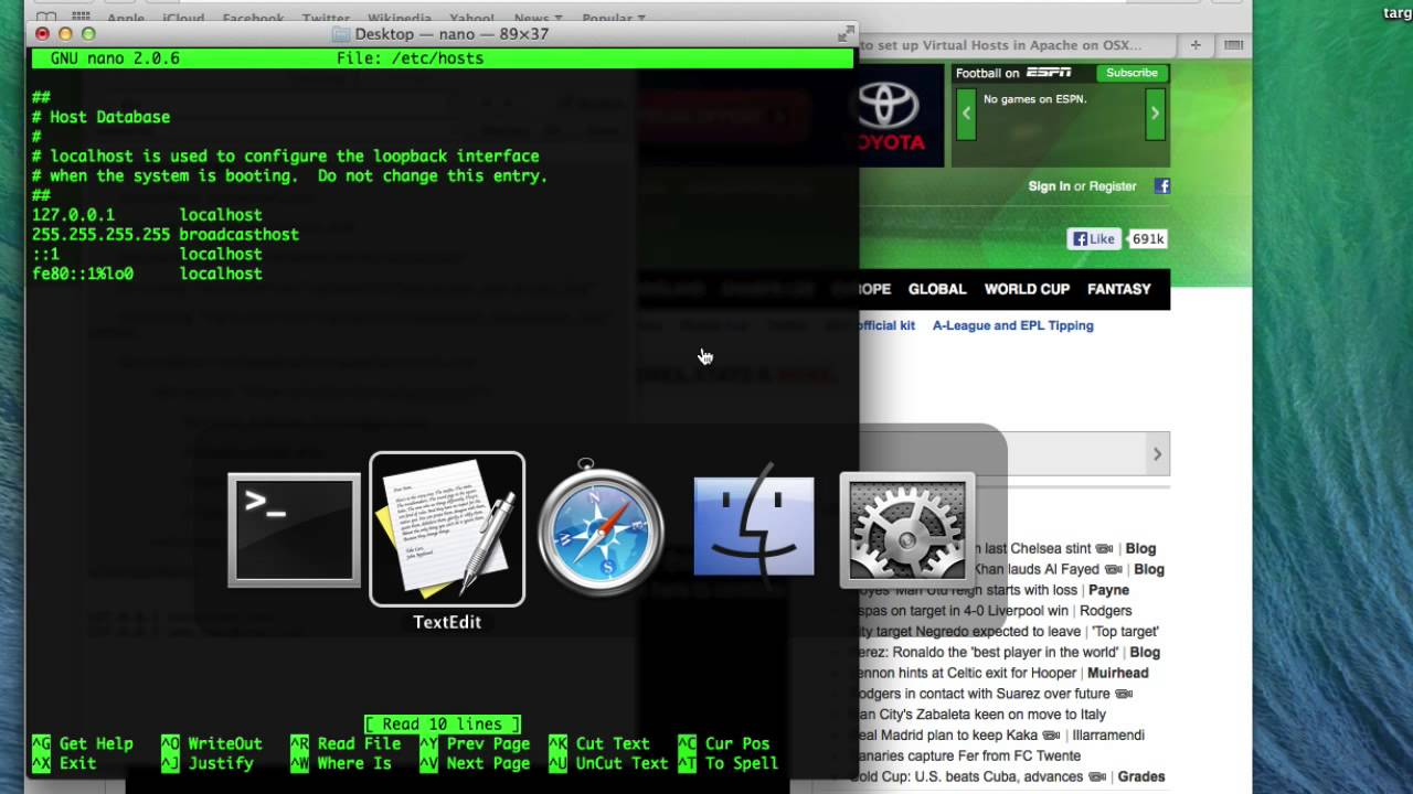 How to set up Virtual Hosts in Apache on Mac OSX 10 9 Mavericks and