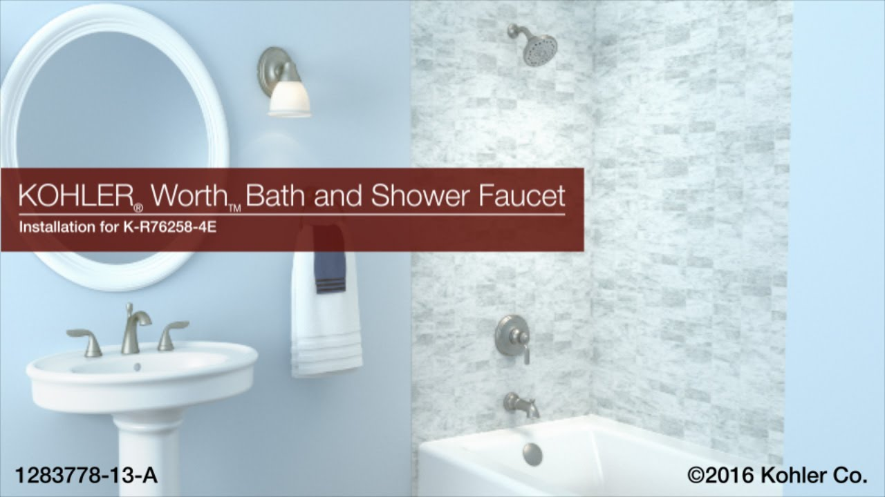 Installation – Worth Bath and Shower Faucet - YouTube