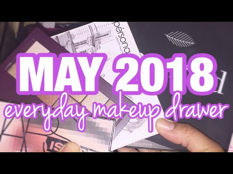 DECLUTTER & ORGANIZE MY EVERYDAY MAY MAKEUP DRAWER WITH ME! | DAY 3 | Testing New Makeup