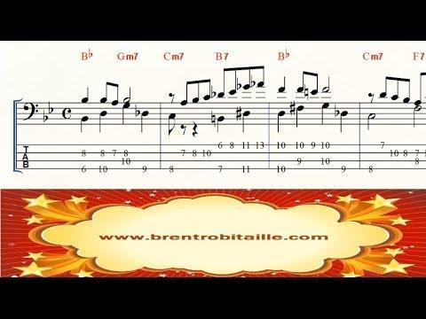 Bass Arrangement - Good Bait - Jazz Chord Melody - Bass Tab - Notation