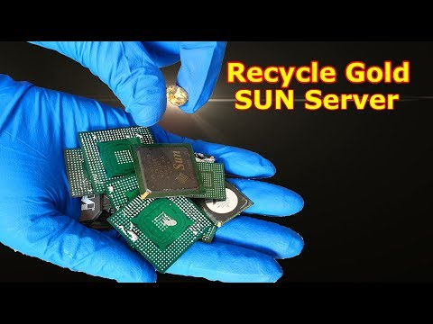 How To Gold Recycle SUN Computer Server Mainboard From Ic Chip Chipset BGA IC Chips Recycling.