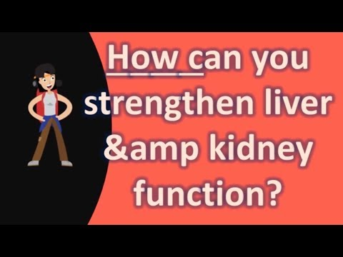 How can you strengthen liver &amp kidney function ?