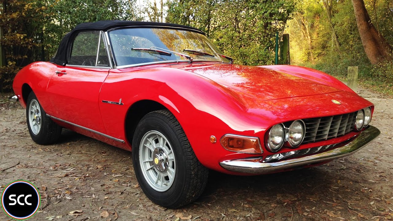Fiat Dino 2400 Spider 1972 Modest Test Drive V6 Engine