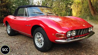 FIAT DINO 2400 Spider 1972 - Modest test drive - V6 Engine sound | SCC TV